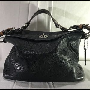 Coach hobo black and brown bag